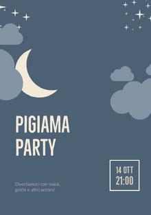 Pigiama party Invito