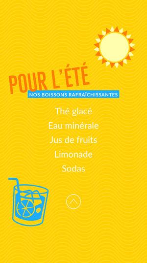 Yellow Summer Drinks Menu Instagram Story  Menu