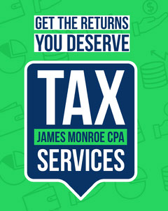 White Blue and Green Tax Services Poster Tax Flyer