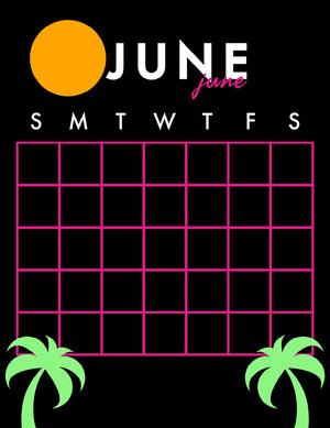 80s Blank Calendar Calendario