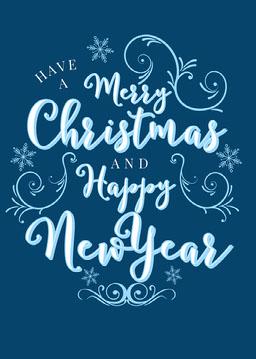 Blue Letterpress Christmas Postcard jeff-test-5