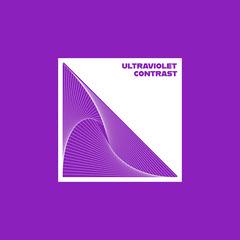 Purple and White Square Contrast Album Art Purple