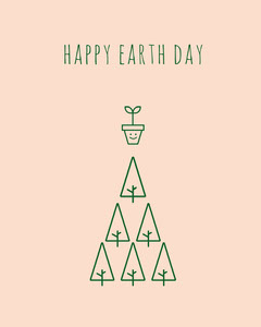 Pink and Green Wishes Social Post Earth