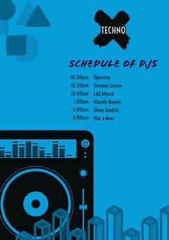 Blue and Black Concert Program DJ