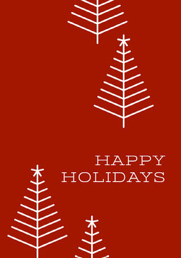 Claret and White Happy Holidays Card jeff-test-5