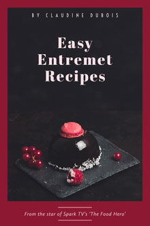 Black and Claret Entremet Recipe Book Cover  Book Cover