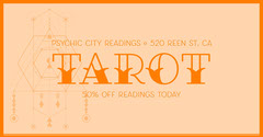 Orange Tarot Readings Facebook Post Ad Deal