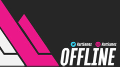 Pink and Black Modern Style Offline Gaming Stream Twitch Banner Stream