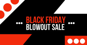 Black Friday Sale Facebook Advertisement Black Friday