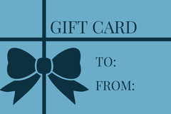 Black and Blue Empty Gift Card Gift Card