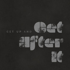 Get up and get after it quote - Instagram Square Grey