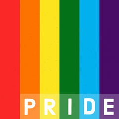Pride Color Stripes Simple Text Instagram Square Pride