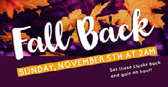 Purple and Orange Fall Time Back Facebook Banner Page Cover Autumn