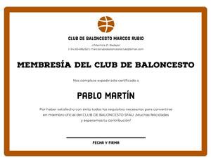 Pablo Martín Certificado