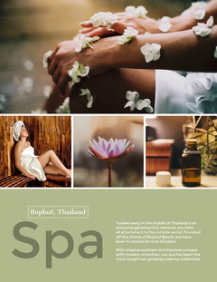 Light Toned Spa Collage Poster  Wellness