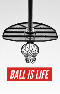 White, Black and Red Basketball Catchphrase Instagram Post Basketball