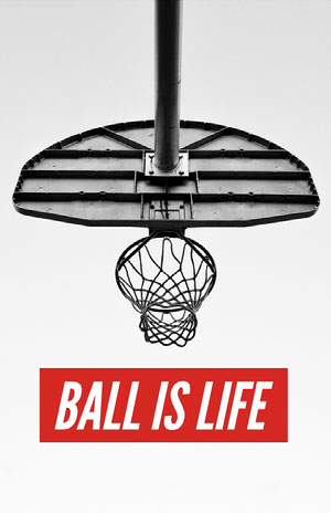 White, Black and Red Basketball Catchphrase Instagram Post 50 Modern Fonts