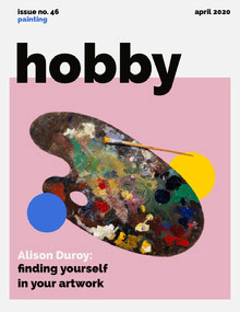 Pink Hobby Magazine Cover with Artist's Palette Magazine Cover
