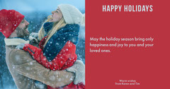 happy holidays red facebook Couple