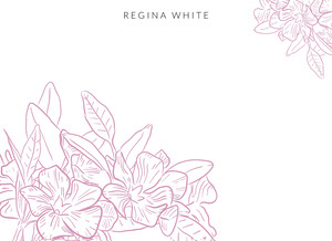 elegant white floral notecard Note Card