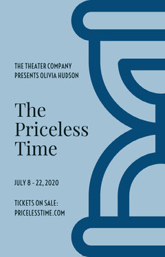 Blue The Priceless Time Play Opening Poster Play Poster