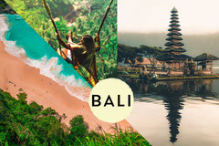 Collage of Bali Postcard Vacation