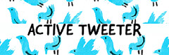 Illustrated Twitter Header with Blue Birds Pattern Design