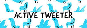 Illustrated Twitter Header with Blue Birds Twitter Header