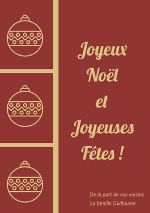 Joyeux Noël <BR>et <BR>Joyeuses Fêtes! Carte de Noël