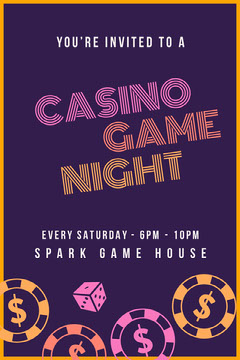 GAME Game Night Flyer