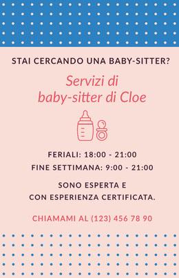 Servizi di <BR>baby-sitter di Cloe Volantino