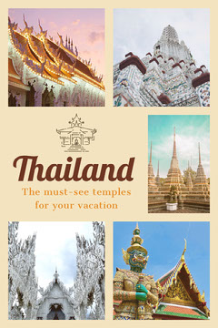 Thailand temples Pinterest  Vacation