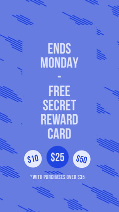 Violet and White Reward Card Instagram Story Gift Card