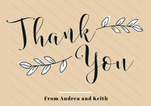 the wedding of thank you card Hochzeitsdankeskarten