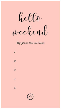 Pink and Black Weekend Plan Social Post Hello