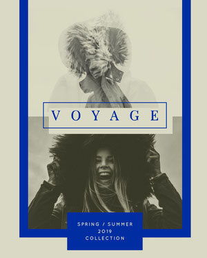 Grey and Blue Voyage Collection Social Post Fashion Collage