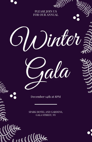 Winter Event Gala Poster Event Poster