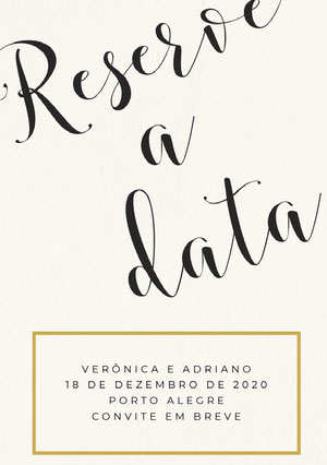 classic save the date card  Reserve a data