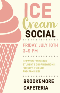 Red and Yellow Illustrated Ice Cream Social School Event Flyer Ice Cream Social Flyer