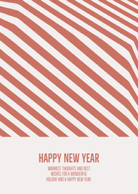 Orange Stripes Happy New Year Card Happy New Year Quotes