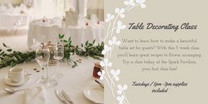 White and Grey Decorating Course Flyer Bryllupsbanner