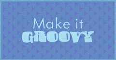 Blue Retro Groovy Facebook Post Graphic Groovy