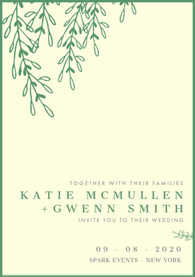 KATIE MCMULLEN<BR>+GWENN SMITH Save the date-kaart