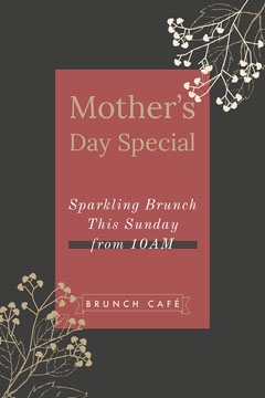 Black and Claret Mother's Day Special Promo Brunch