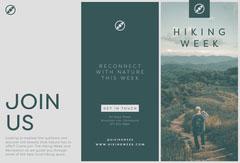 Green and Grey, Hiking Week Travel, Brochure Hike