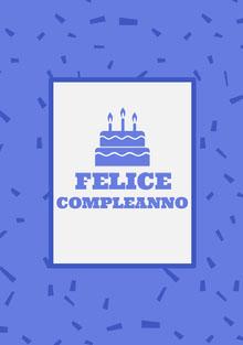 purple birthday cards Biglietto di compleanno