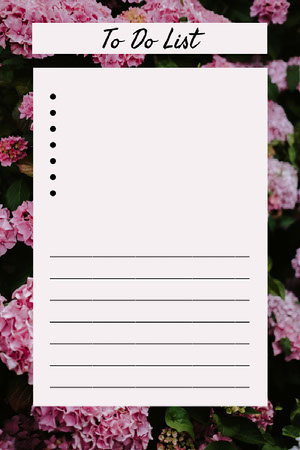 Pink Floral To Do List Pinterest Graphic To Do List