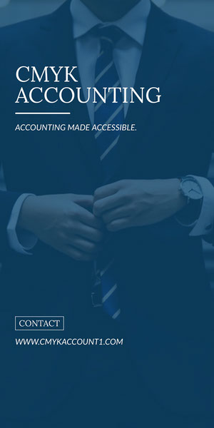 CMYK<BR>ACCOUNTING Advertisement Flyer