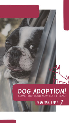 SWIPE UP! Dog Adoption Flyer