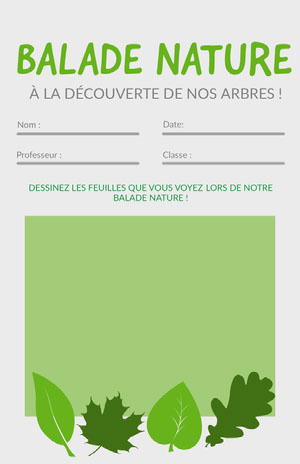 nature worksheet  Fiche d'exercices